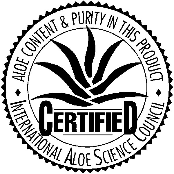 Our Aloe Vera certified by the International Aloe Science Council